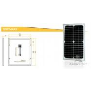 Aurinkokenno 20W yksikiteinen