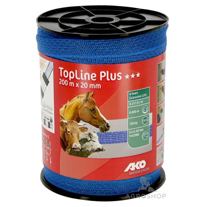 Sähköpaimenen aitanauha TopLine Plus 20mm/200m
