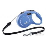 Nyörillinen kelatalutin Flexi Classic M (12kg) sininen 8m