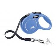 Nauhatalutin Flexi Classic XS (12kg) sininen 3m
