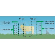 Sähköistettävä verkko TopLine Plus 0,9x50m lampaille, 2-piikkinen